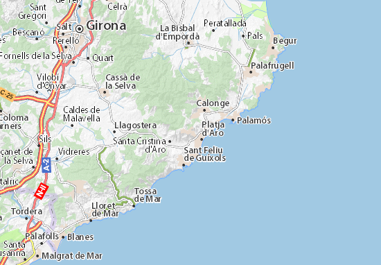 Karte Stadtplan Mas Nou