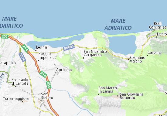 Carte-Plan San Nicandro Garganico