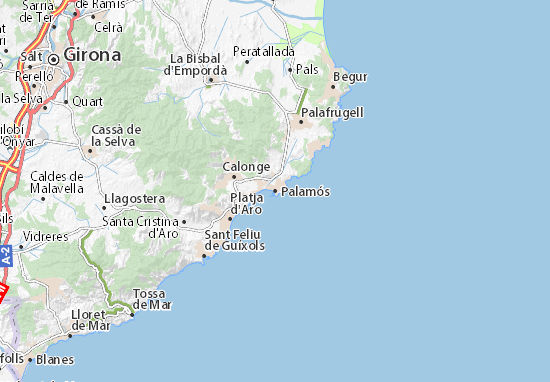 Kaart Plattegrond Palamós