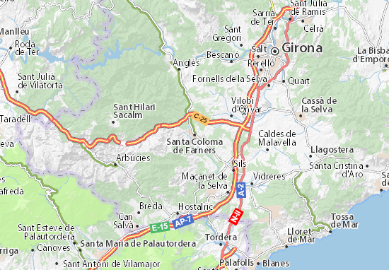 Carte-Plan Santa Coloma de Farners
