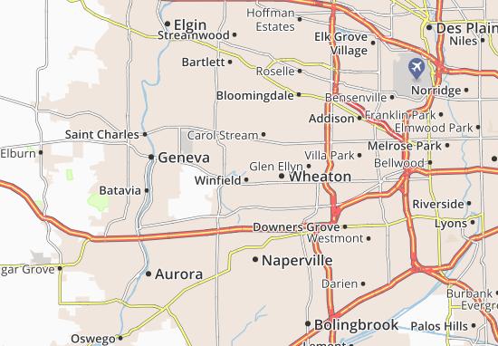 Kaart Plattegrond Winfield