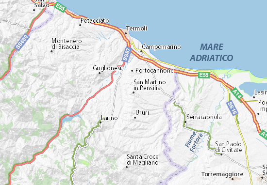 San Martino in Pensilis Map