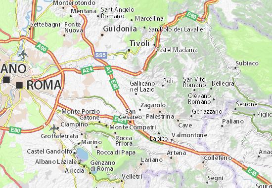 Gallicano nel Lazio Map
