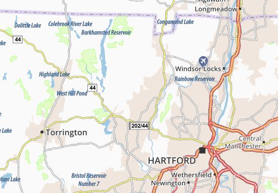 Mappe-Piantine West Simsbury