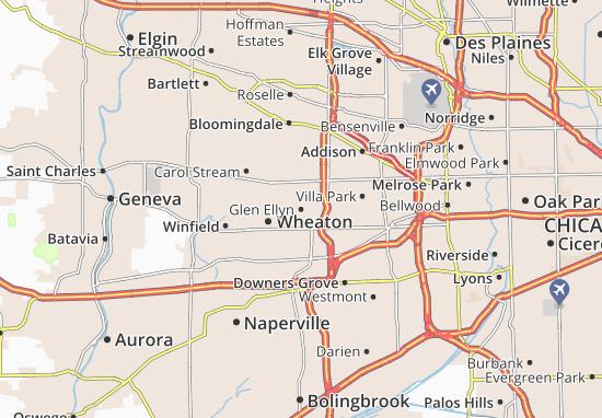 Glen Ellyn Map