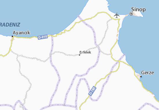 Kaart Plattegrond Erfelek