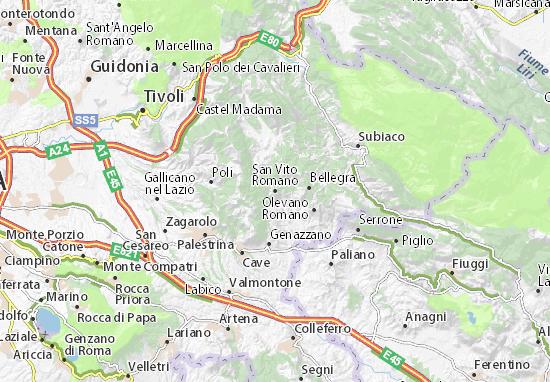 Carte-Plan San Vito Romano