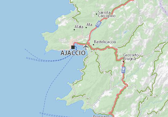 Carte Corse Ajaccio Porticcio.Carte Detaillee Porticcio Plan Porticcio Viamichelin