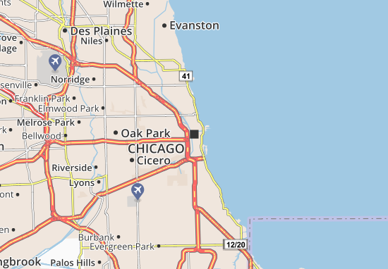 Map of Chicago Michelin Chicago map ViaMichelin – Chicago Tourist Attractions Map