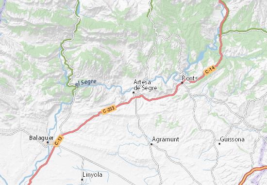 Artesa de Segre Map
