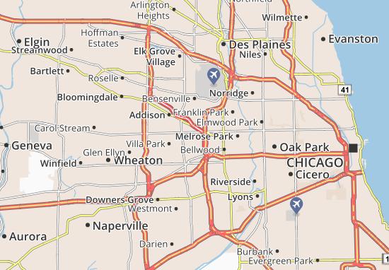 Elmhurst Map