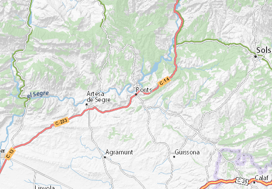 Ponts Map