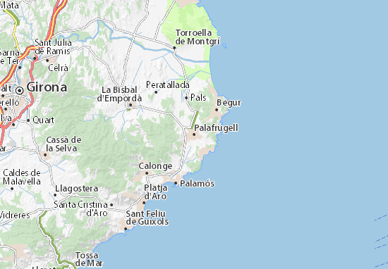 Palafrugell Map