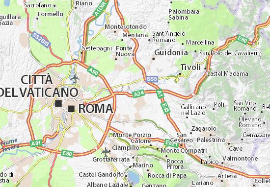 Cartina Roma Est.Mappa Lunghezza Cartina Lunghezza Viamichelin