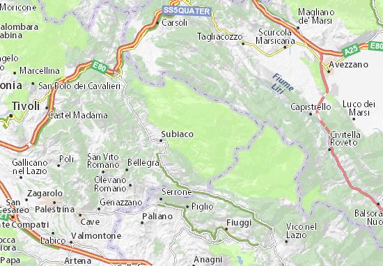 Cartina Geografica Roccaraso.Mappa Michelin Monte Livata Pinatina Di Monte Livata Viamichelin