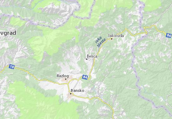 Kaart Plattegrond Belica
