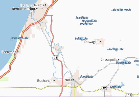 Berrien Center Map