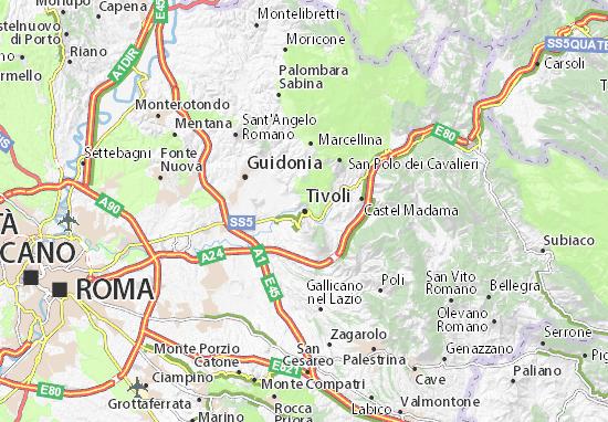 Mapa Tivoli