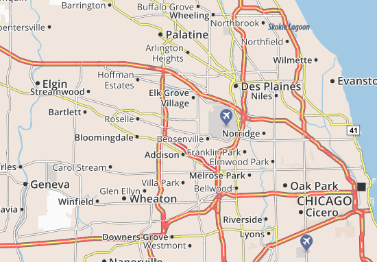 Wooddale Illinois Map.Map Of Wood Dale Michelin Wood Dale Map Viamichelin