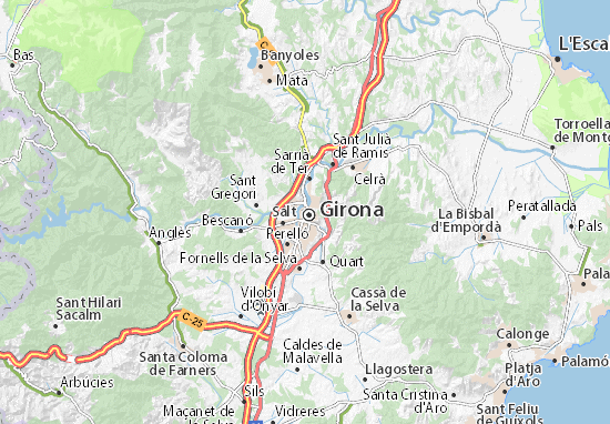 Kaart Plattegrond Girona