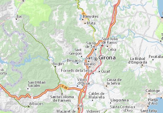 Kaart Plattegrond Sant Gregori