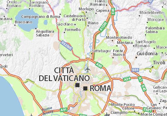 Citta Di Roma Cartina.Mappa Labaro Cartina Labaro Viamichelin