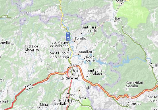 Manlleu Map