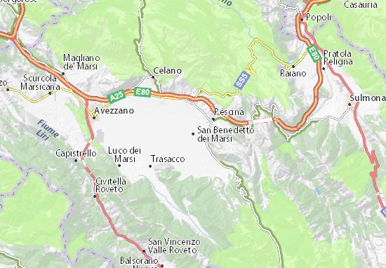 Carte-Plan San Benedetto dei Marsi