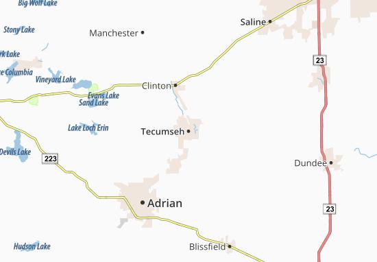 Tecumseh Map