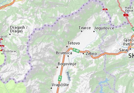 Tetovo Map