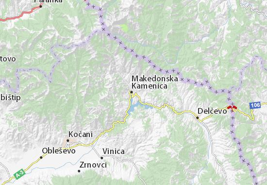 Kaart Plattegrond Kamenica
