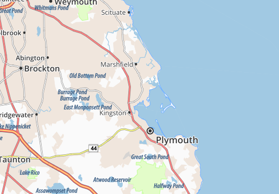 South Duxbury Map