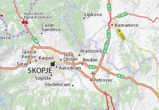 Aračinovo Map
