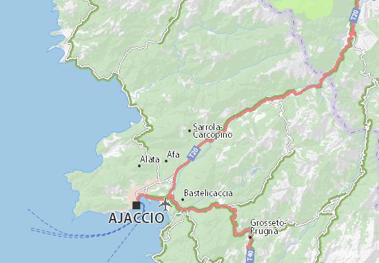 Sarrola-Carcopino Map