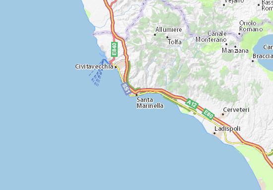 Carte-Plan Santa Marinella