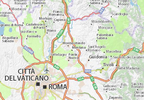Mapa Mentana