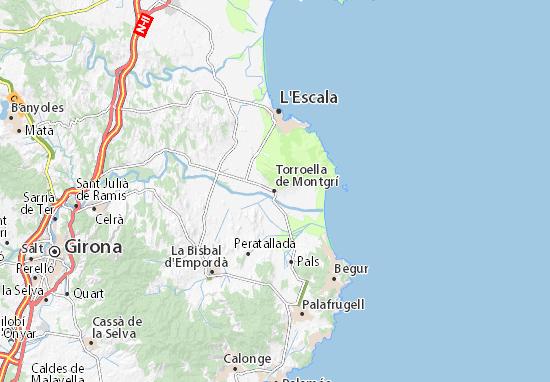 Torroella de Montgrí Map