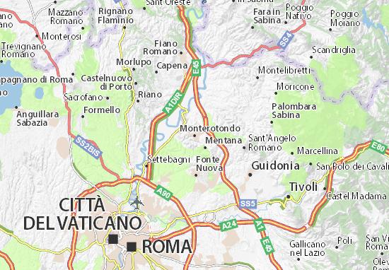 Mapa Monterotondo