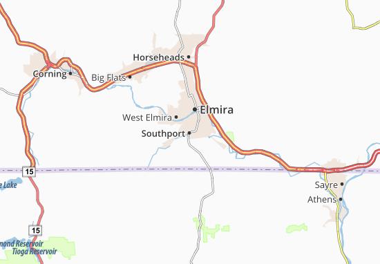 Kaart Plattegrond Southport