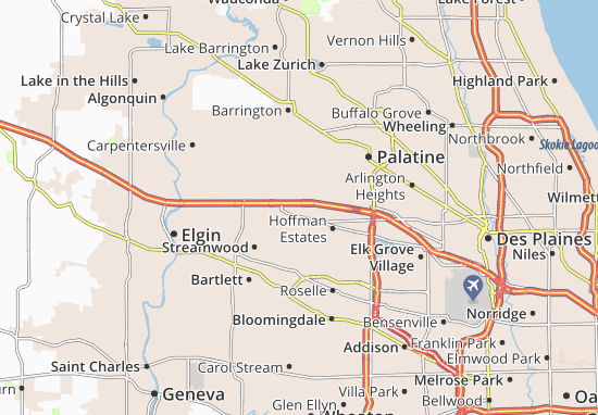 Mappe-Piantine Hoffman Estates