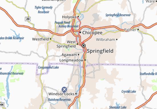 Agawam Map