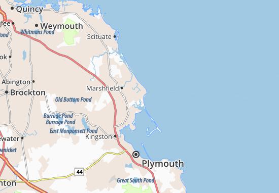Kaart Plattegrond Green Harbor-Cedar Crest