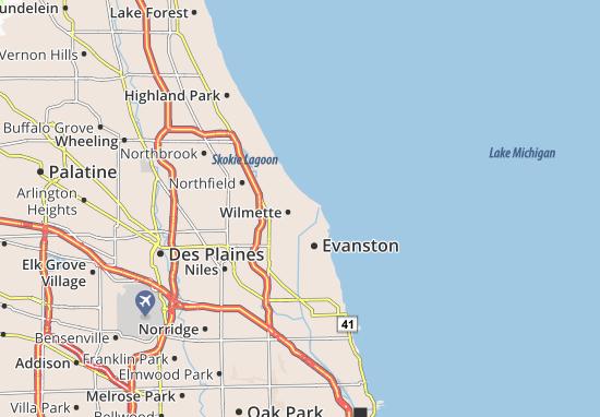 Wilmette Map
