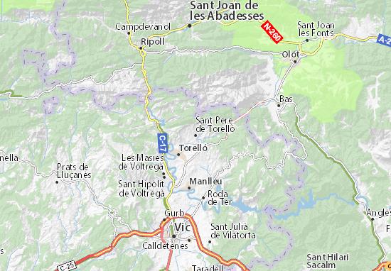 Mapas-Planos Sant Pere de Torelló