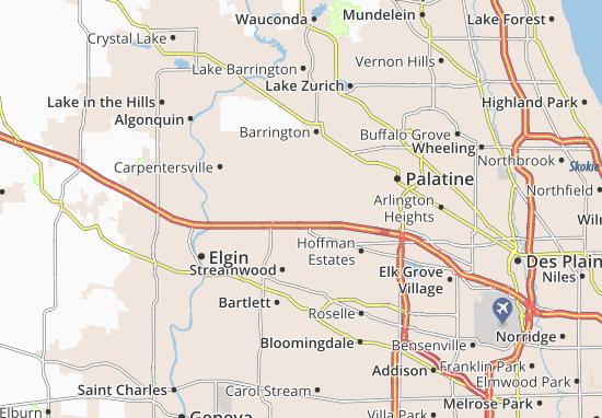 South Barrington Map