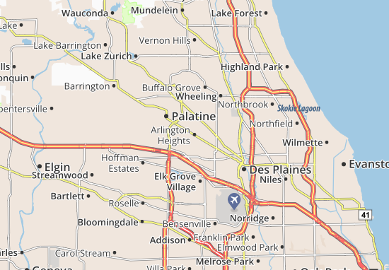 Mapas-Planos Arlington Heights