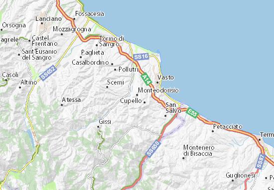 Mappe-Piantine Monteodorisio
