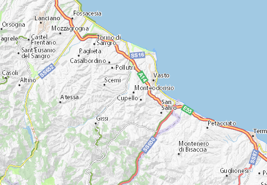 Carte-Plan Monteodorisio