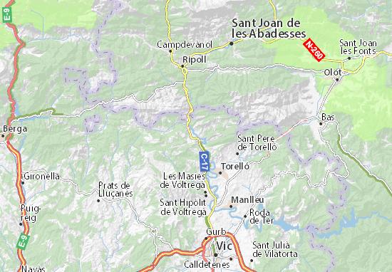 Mapa Plano Sant Quirze de Besora