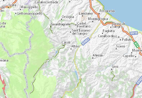 Kaart Plattegrond Altino